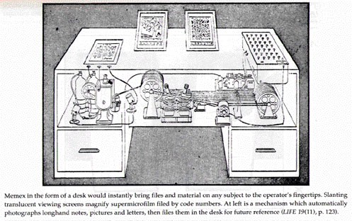 A rendering of the Memex from *LIFE *magazine, 1945