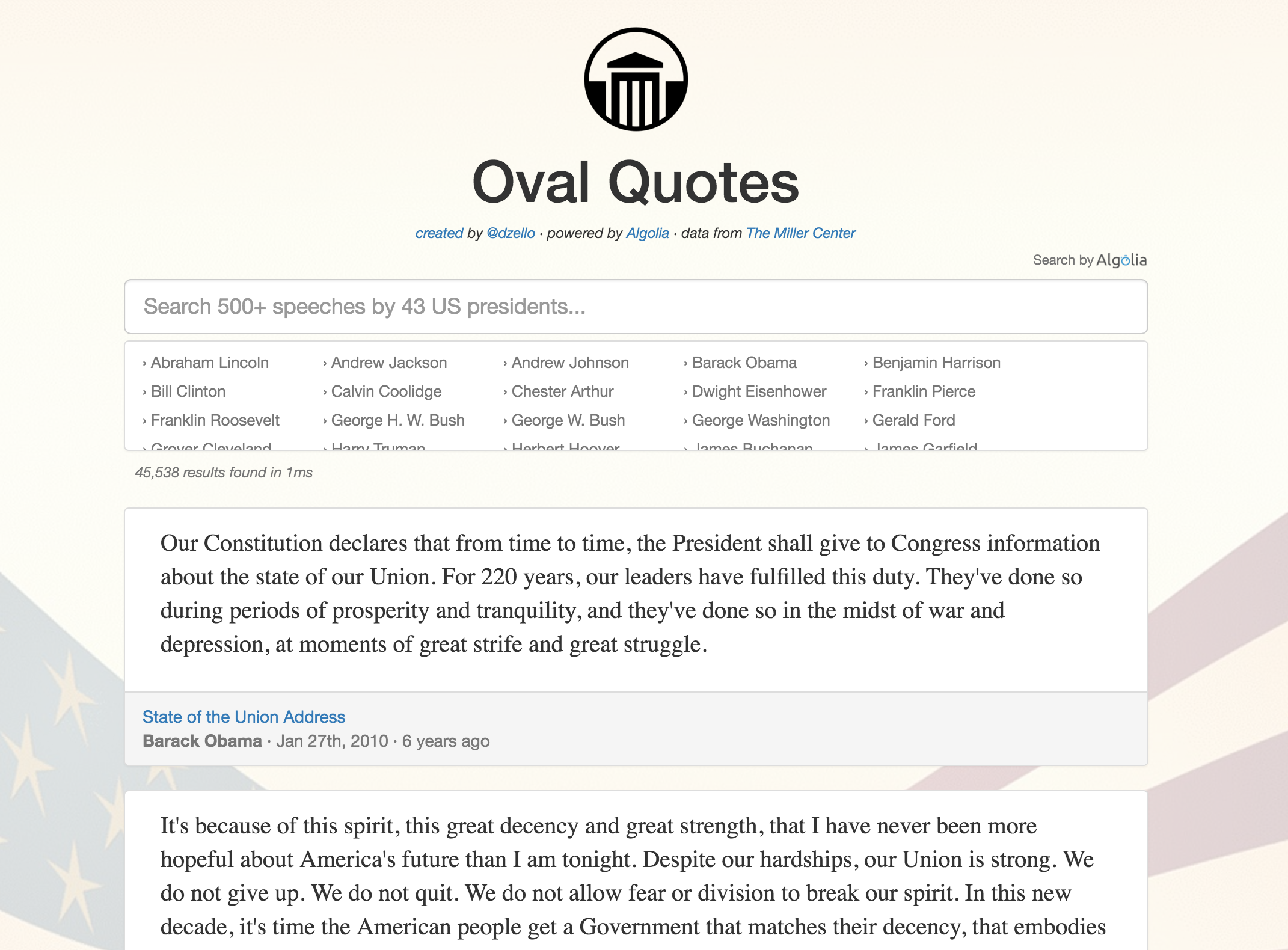 Oval Quotes Screenshot