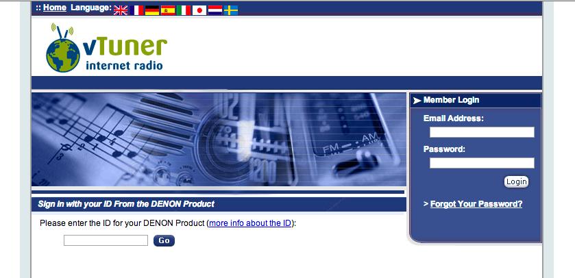 vTuner Register